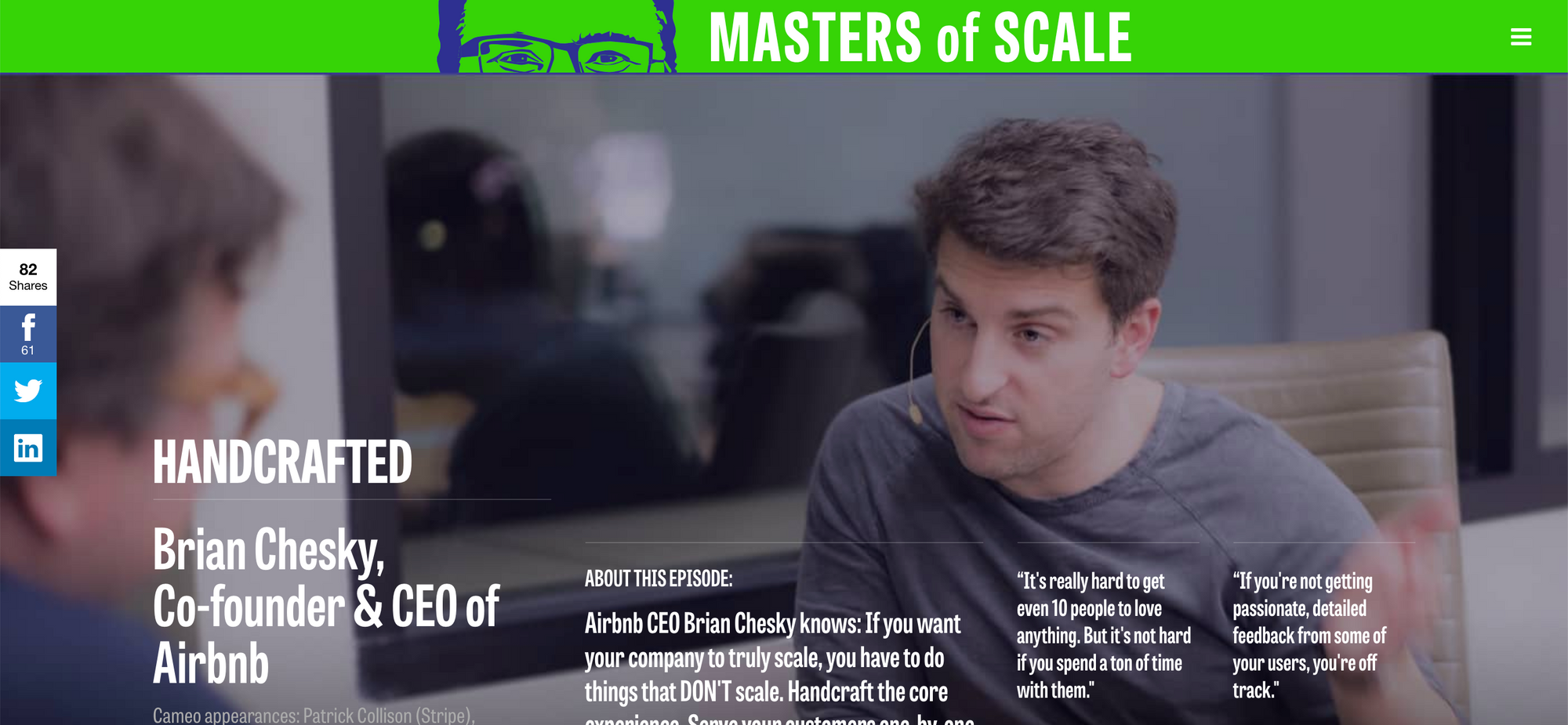 Masters of Scale - Brian Chesky